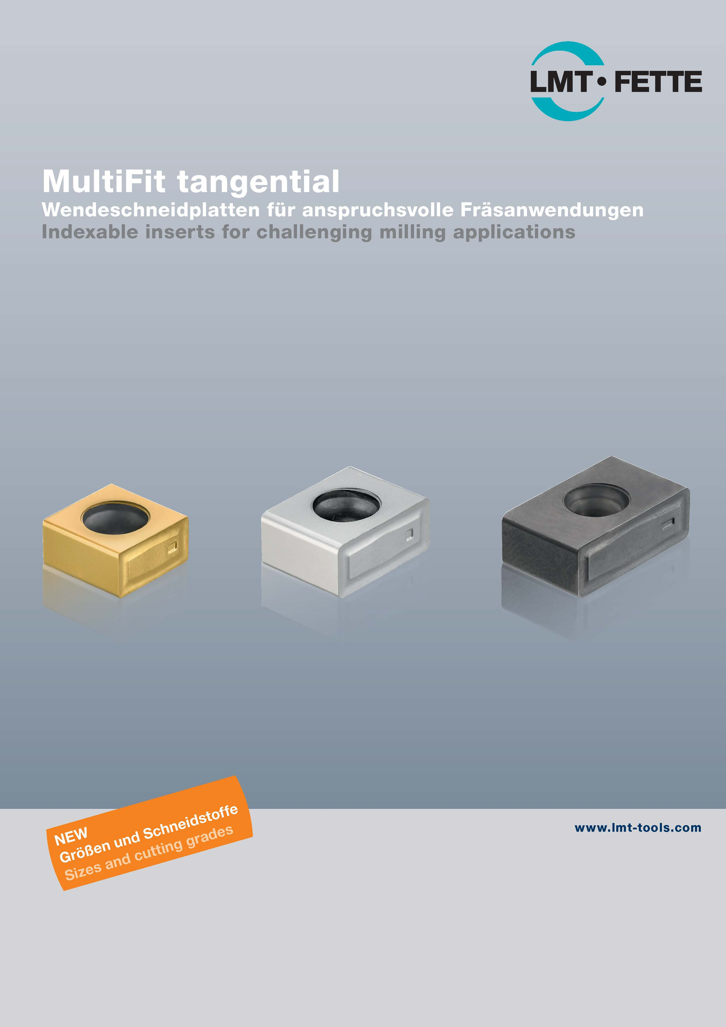 MultiFit tangential: Indexable inserts for challenging milling applications