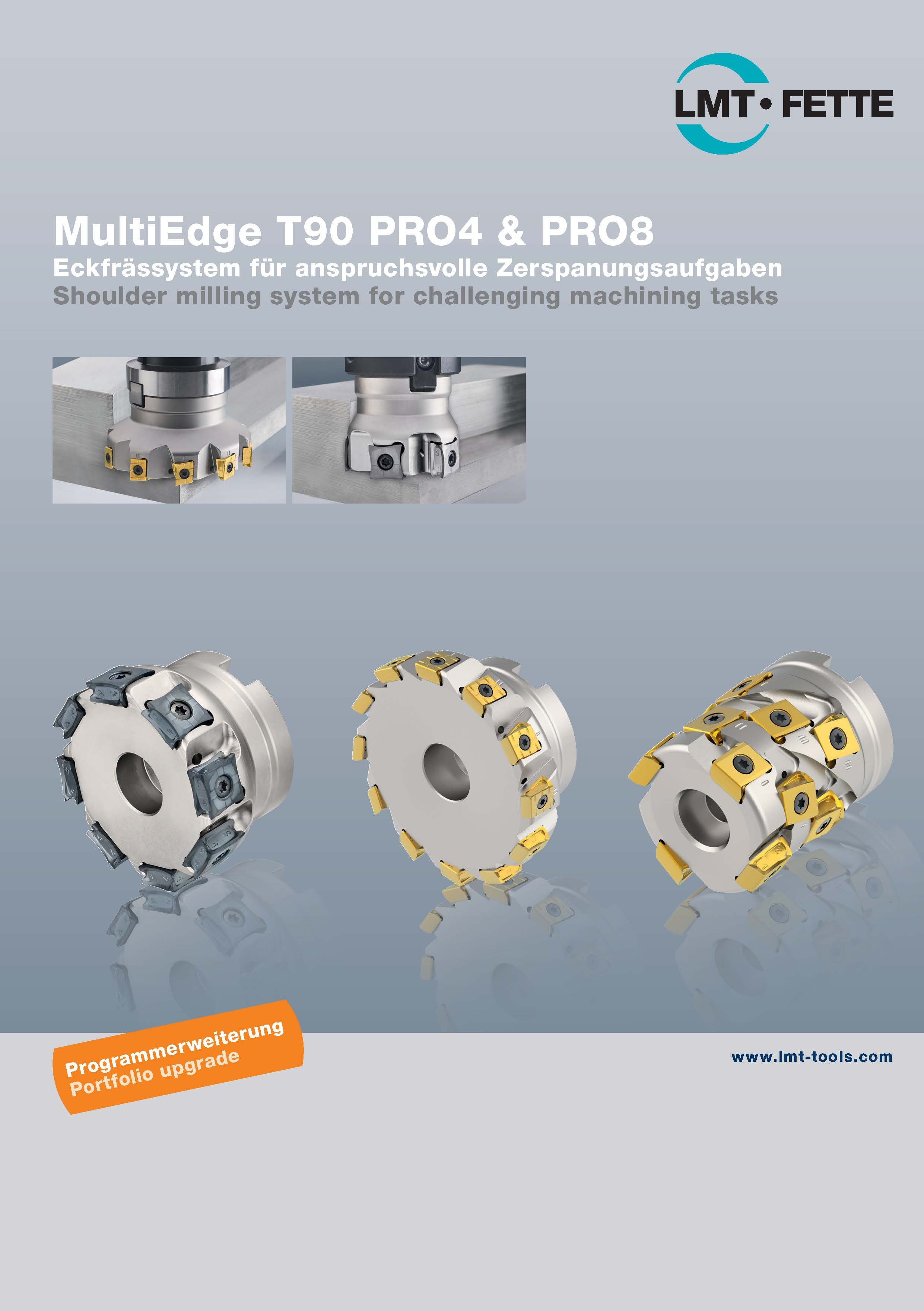 MultiEdge T90 PRO4 & PRO8: Shoulder milling system for challenging machining tasks