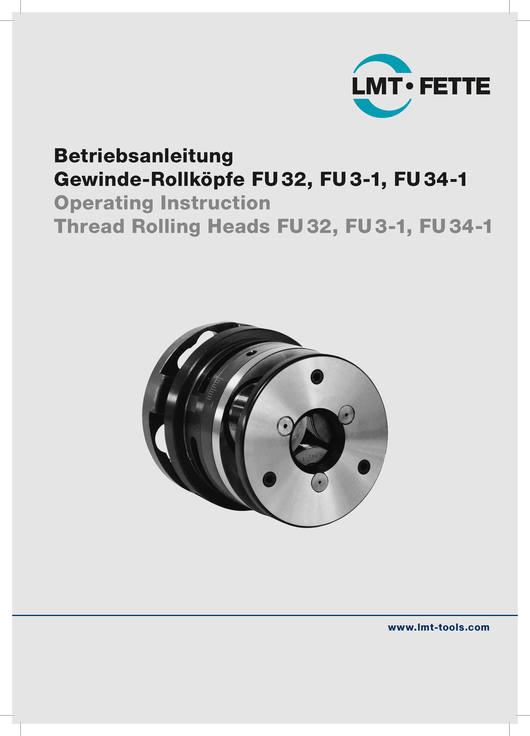 Operating Instruction Thread Rolling Heads FU 32-34