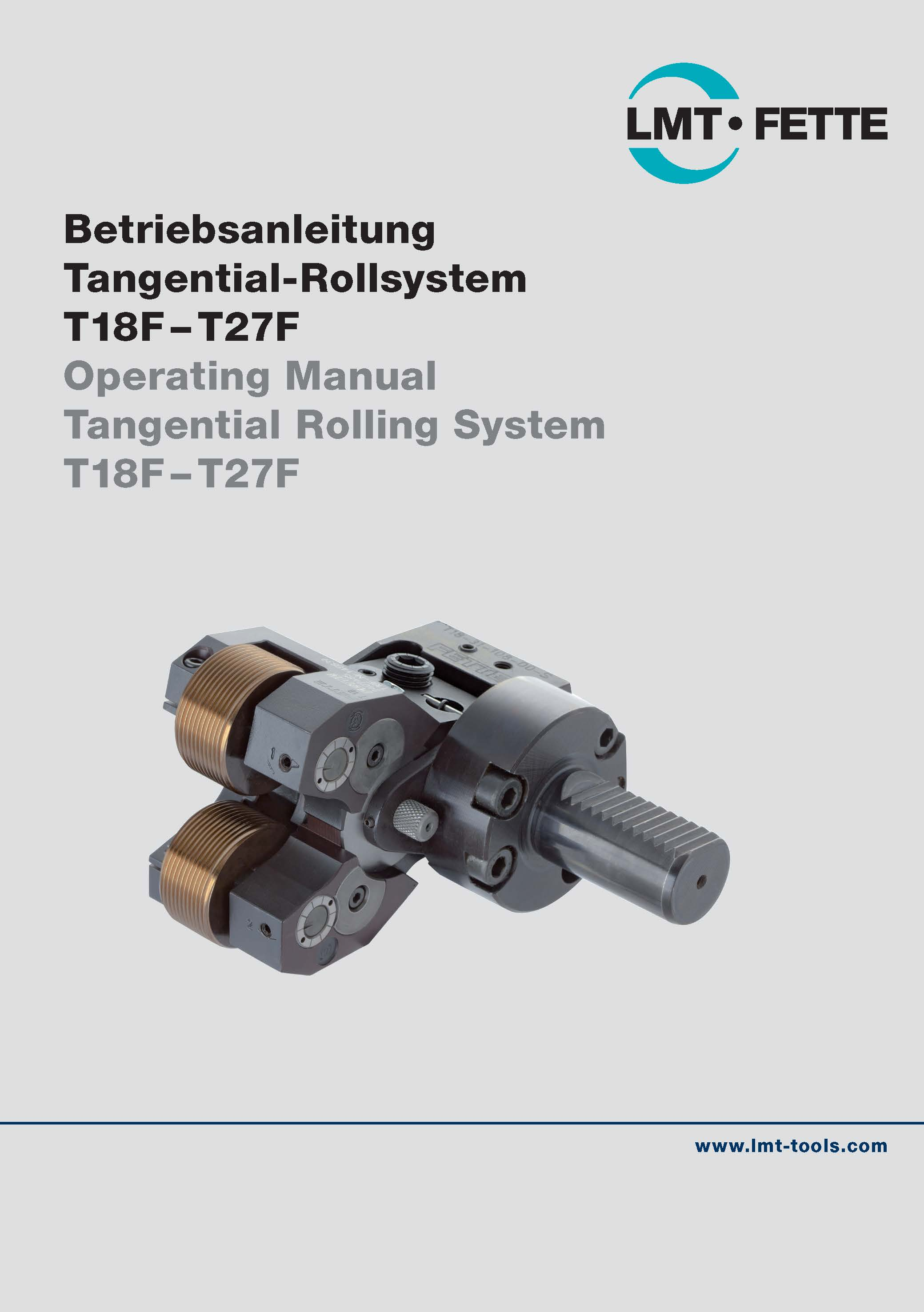 Operating Manual Tangential Rolling System T18F-T27F