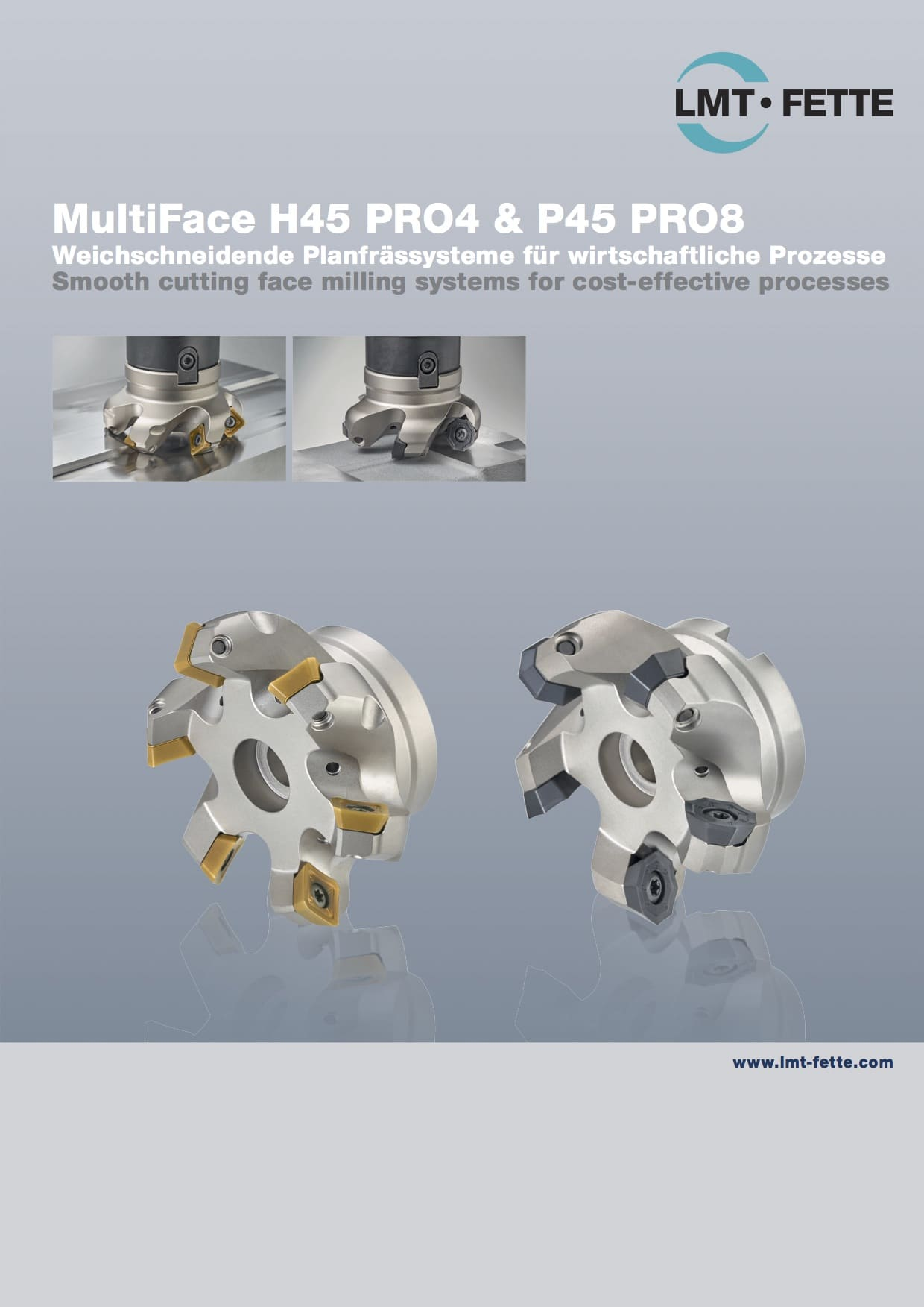 Face milling systems Multi Face H45 PRO4 & P45 PRO8