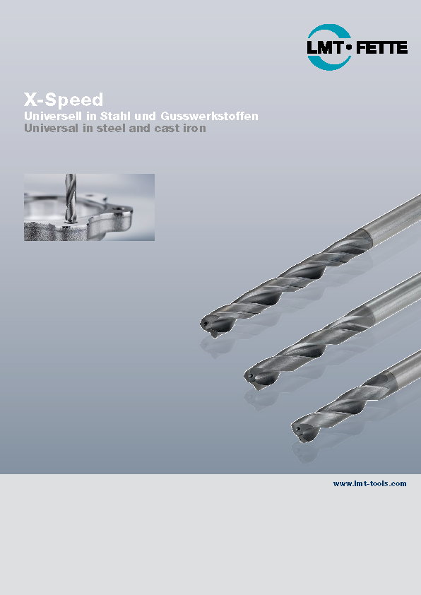 Solide carbide drills X-Speed for steel and cast materials