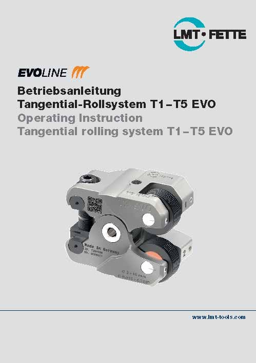 Operating Instruction Tangential rolling system T1-T5 EVO