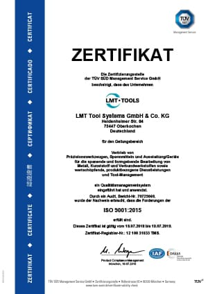 Qualitätsmanagementsystem - LMT Tools Systems GmbH & co. KG